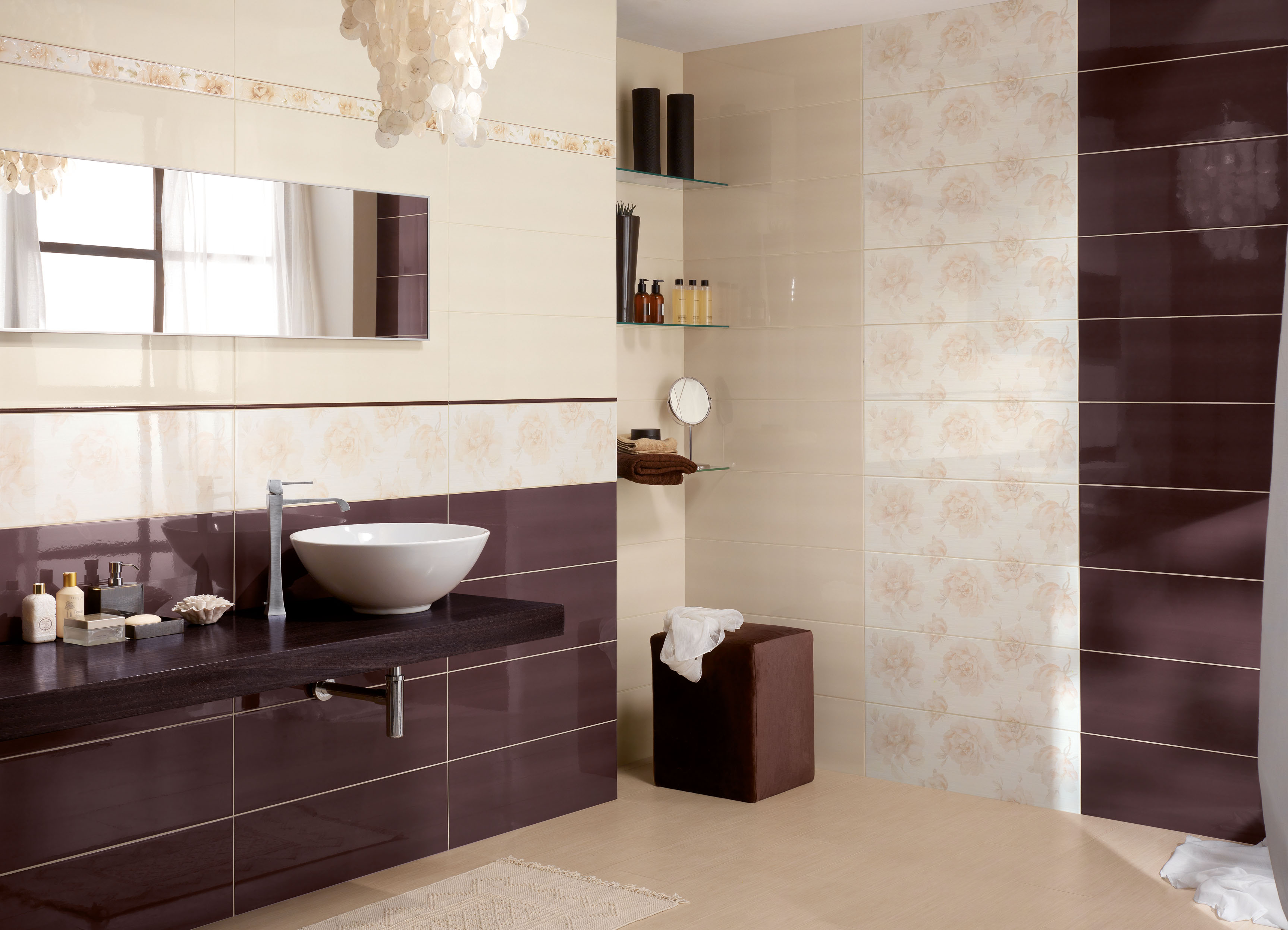 rivestimento bagno beige e marrone ~ Comarg.com = Lussuoso Design ...