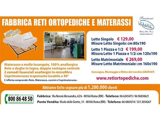 Reti Letto Su Misura Roma.Perniconi Reti Ortopediche Reti Per Letti Produttori E Grossisti