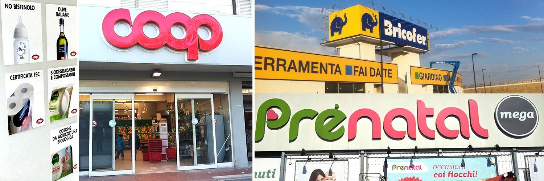 Alca design comunicazione visiva e grafica pubblicita for Arredamento negozi e supermercati